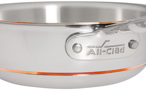 All-Clad Copper-Core 2 Qt. Saucier With Lid