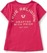 True Religion Big Girls 7-16 V-Neck Branded Logo Graphic Tee