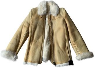 Burberry Yellow Shearling Coats