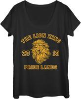 Fifth Sun Women's Tee Shirts BLACK - The Lion King Black 'Pride Lands' Simba Scoop Neck Tee - Women & Juniors
