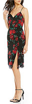 Lovers + Friends Honeymoon Lace Rose Print Slip Dress