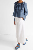 See by Chloe High-Waisted Cotton Wide Leg Pants