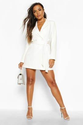 boohoo Petite Tailored D-Ring Belted Blazer Dress