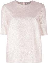 Lanvin glitter T-shirt - women - Silk/Polyester - 38