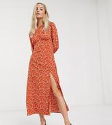 Fashion Union Petite midi dress in floral
