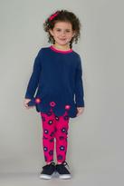 Florence Eiseman Blue/pink Petal Tunic/leggins