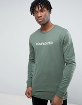 Pull&Bear Sweatshirt With Complicated Slogan In Green