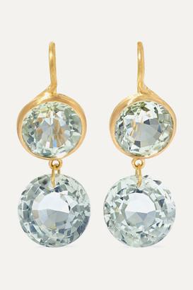 Marie Helene De Taillac Incandescence 22-karat Gold Quartz Earrings - one size