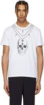 Alexander McQueen White Skull Necklace T-Shirt