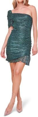 ASTR the Label Ally Embellished One-Shoulder Dress