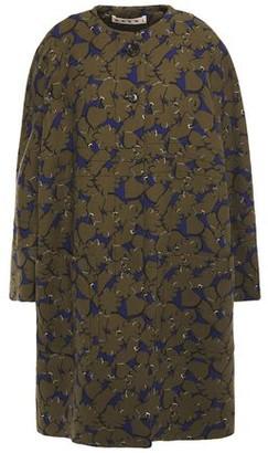 Marni Printed Wool-crepe Coat