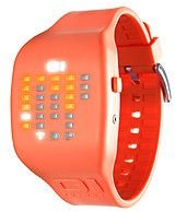 01 The One 01TheOne Unisex IC900M3OR Ibiza Ride Digital Color Orange Rubber Watch