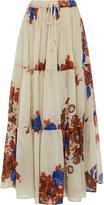 Yvonne S Floral Drawstring Maxi Skirt