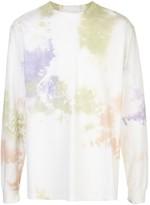 John Elliott long sleeve tie-dye print T-shirt