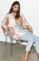KENDALL + KYLIE Kendall & Kylie Crushed Velvet Kimono