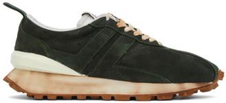 Lanvin Green Suede Bumper Sneakers