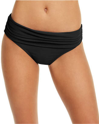 Tommy Hilfiger Solid Foldover Bottoms Women Swimsuit