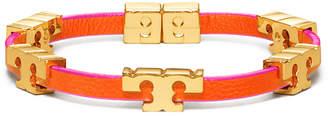Tory Burch Serif-T Single Wrap Bracelet, Pink/Gold