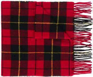 Polo Ralph Lauren checked logo scarf