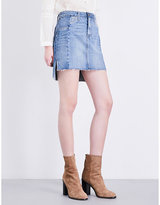 Paige Adrian high-rise denim skirt