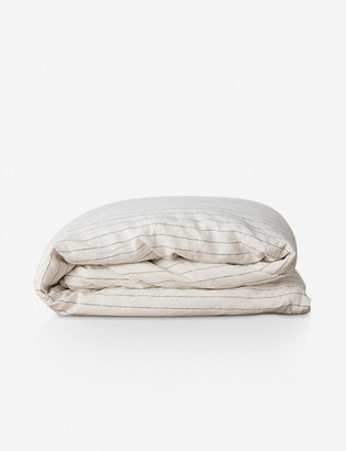 Lulu & Georgia Cultiver Linen Bedding, Pencil Stripe Duvet Cover