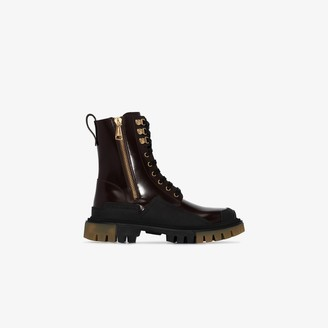 Dolce & Gabbana Military-Style Chunky Boots