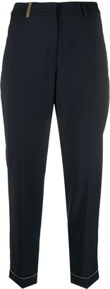 Peserico High-Rise Straight Trousers