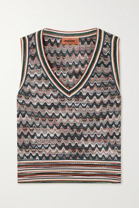 Missoni Crochet-knit Tank - Gray green