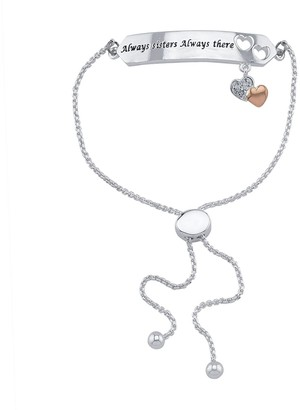 Brilliance+ Brilliance Always Sisters Gold Tone Bolo Bracelet With Swarovski Crystals