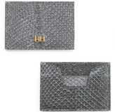 Aitch Aitch The Abigail Cardholder In Stone With Brass Hardware