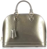 Louis Vuitton Vernis Gris Alma PM Bag