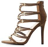 Charlotte Russe Metal-Tipped Tubular Dress Sandals