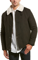 Cole Haan Tumbled Wool-Blend Coat