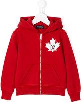 DSQUARED2 logo print hoodie - kids - Cotton - 6 yrs