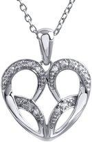 Jessica Simpson Sterling Silver Diamond Accent Heart Pendant