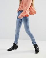 Glamorous Slim Leg Jeans With Raw Cut Hem