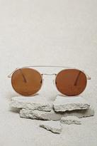 Forever 21 Men Brow Bar Round Sunglasses
