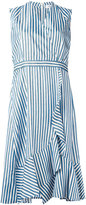 Carven striped dress - women - Silk/Acetate - 38