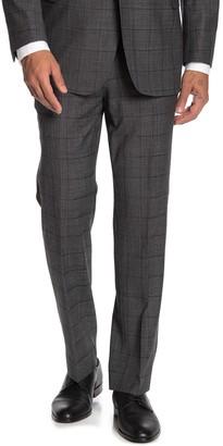 "Brooks Brothers Charcoal Plaid Print Regent Fit Suit Separates Trousers - 30-34"" Inseam"