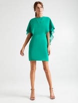 Halston Cape Sleeve Dress