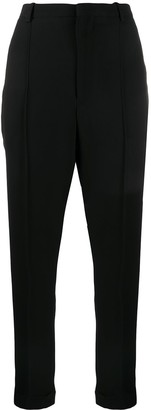 Isabel Marant High-Waist Tapered Cotton Trousers