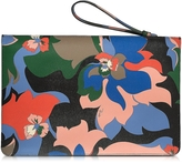 Emilio Pucci Multicolor Leather Pouch