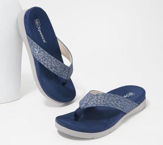 Spenco Orthotic Thong Sandals - Newport Cheetah