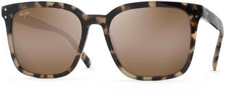 Maui Jim Men's Westside Polarized Patterned Square Sunglasses