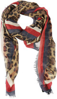 Gucci Leopard Scarf