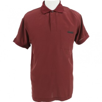 Prada Burgundy Viscose Polo shirts