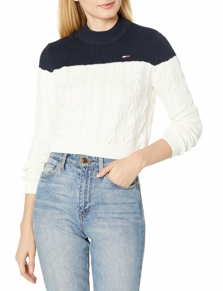 Tommy Hilfiger Women's Cropped Cable Sweater