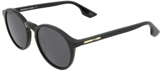Alexander McQueen Unisex Mq0039s 49Mm Sunglasses