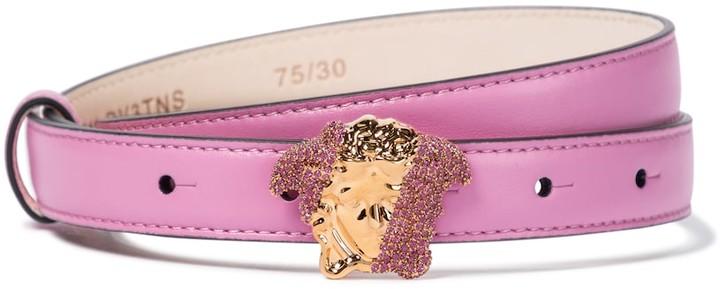 Versace Medusa embellished leather belt