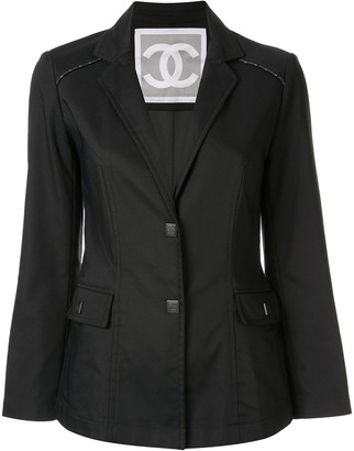 Chanel Pre Owned Chanel CC sports line long sleeve jacket